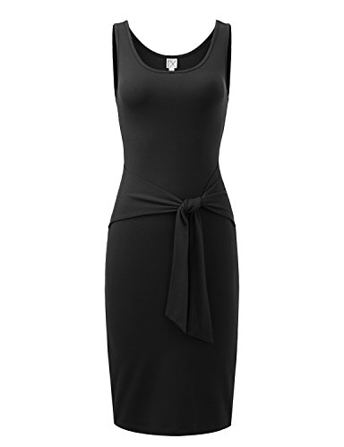 Regna X Love Coated Women Black Deep V-neck Half Sleeve Dress Large