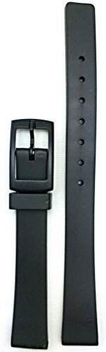 12mm Black Rubber Watch Band -- Comfortable and Durable PVC (Pvc Band)