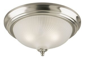 (Westinghouse Flush Mount Ceiling Fixture A19 13 In. Dia Nickel Bx)