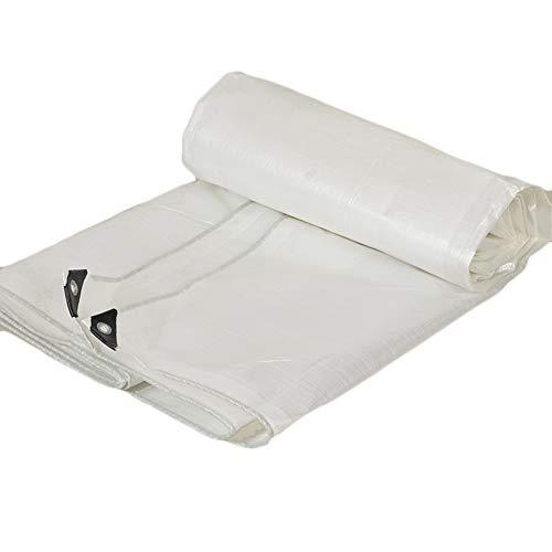 夜明け役に立たないラブQIANGDA トラックシート荷台カバー軽量 プラスチックフィルム 防寒対策 防水 折りたたみが簡単で、 (180g/m²) 複数のサイズ (色 : 白, サイズ さいず : 4.8 x 4.8m)
