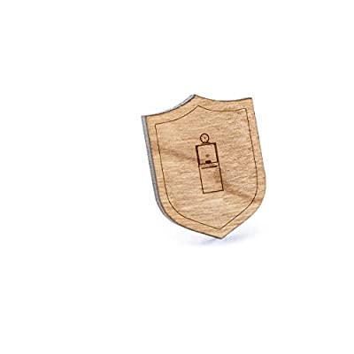 Discount Ticket Booth Lapel Pin, Wooden Pin And Tie Tack | Rustic And Minimalistic Groomsmen Gifts And Wedding Accessories supplier