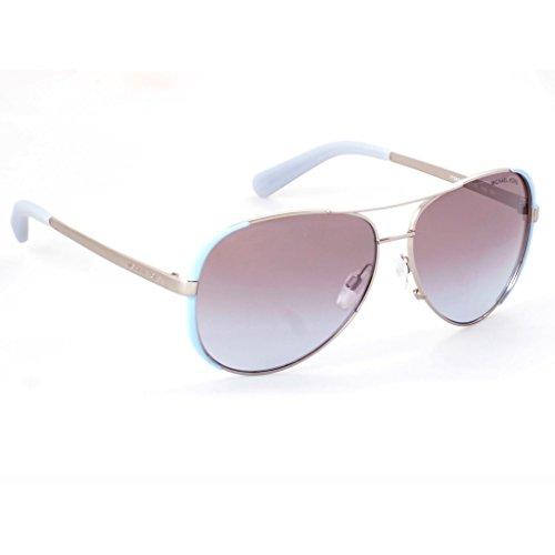 Michael Kors Chelsea Sunglasses MK5004 Blue / Purple Silver Gradient Mirror 1124/94 - Purple Michael Sunglasses Kors
