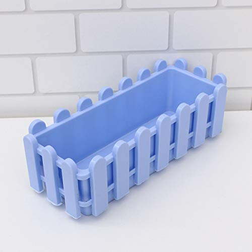 [해외]NATFUR 1pc Double-Layer Fence Plastic Flower Potted Plants Pot Holder for Garden Home | Color - Blue / NATFUR 1pc Double-Layer Fence Plastic Flower Potted Plants Pot Holder for Garden Home | Color - Blue