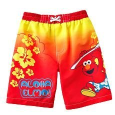 745fff7481 Image Unavailable. Image not available for. Colour: Sesame Street Elmo Boys  Swim Trunks ...