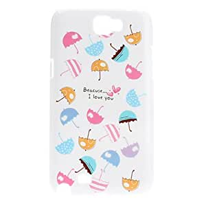 get Colorful Umbrellas Pattern Hard Case for Samsung Galaxy Note 2 N7100