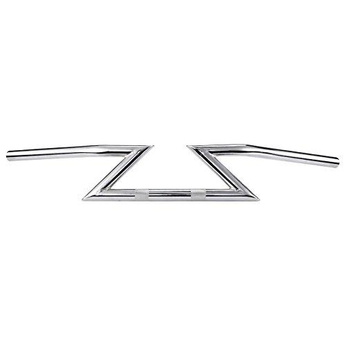 Chrome handlebars trainers4me innoglow 1 chrome motorcycle drag handlebar z bar for yamaha suzuki honda kawasaki harley triumph chopper bobber fandeluxe Image collections
