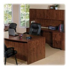 P-desk Shell (Lorell Desk Shell, 66 by 30 by 29-1/2-Inch, Cherry)