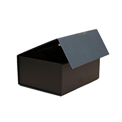 Small Black Rigid Box Magnetic Giftbagshop .