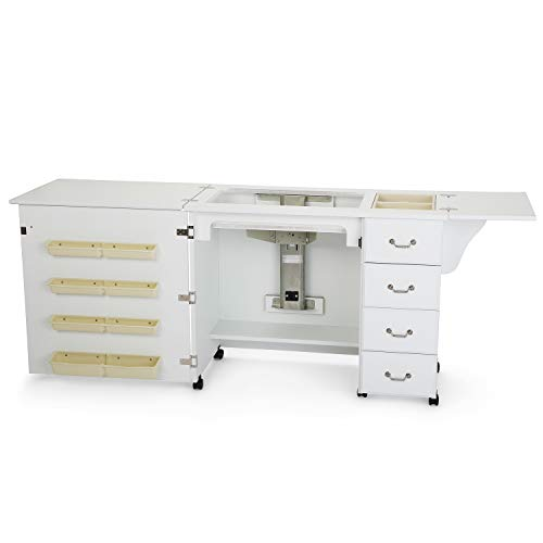 Norma Jean Wooden Sewing Table Desk Finish: White -  Arrow, 351