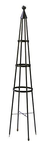 Achla Designs OBL-01, 61-in Wrought Iron Garden Obelisk Trellis, H, Graphite (Renewed)