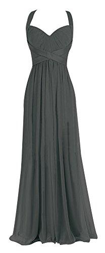Chiffon Empire Waist Evening Gown - 5