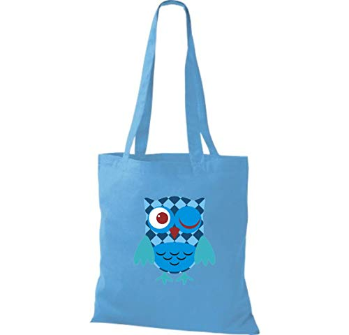 Azul Claro Mujer De Algodón Para Shirtinstyle Bolso Tela FBOFgR