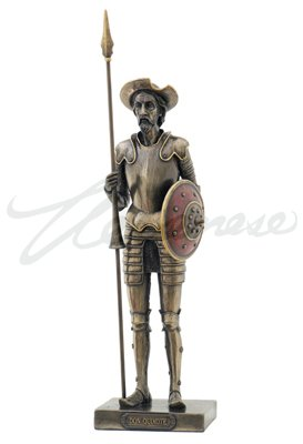 Antique Bronze Figures (11.63 Inch Don Quixote Standing with Spear Cold Cast Bronze Figurine)