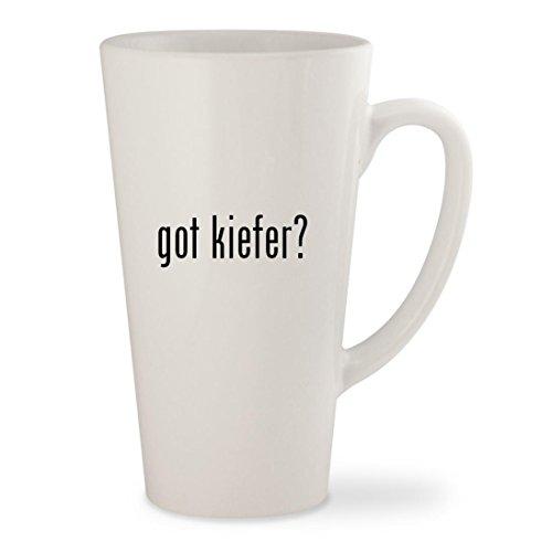 got kiefer? - White 17oz Ceramic Latte Mug - Glasses Kiefer Sutherland