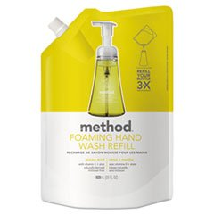 (Method Foaming Hand Wash Refill, Lemon Mint, 28 Oz Pouch, 6/Carton)