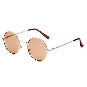 John Lennon Glasses Hippy 60's Vintage Retro Round Designer Inspired Walrus Style Sunglasses & Clear Lens Eye Glasses with Comfortable Spring Temple
