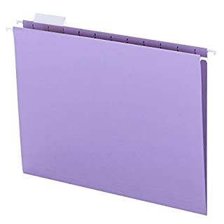 Smead Colored Hanging File Folder with Tab, 1/5-Cut Adjustable Tab, Letter Size, Lavender, 25 per Box (64064) (B0006VRJI4) | Amazon price tracker / tracking, Amazon price history charts, Amazon price watches, Amazon price drop alerts