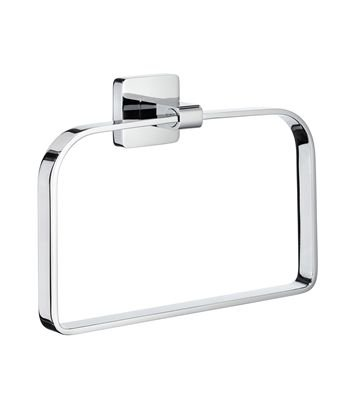 Smedbo ICE Towel Ring OK344 Polished Chrome .Include Glue.Fixing Without Drilling