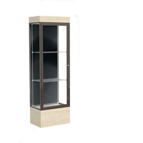 Edge Series Floor Display Case Frame Color: Dark Bronze, Base Color: Chardonnay, Case Backing: -