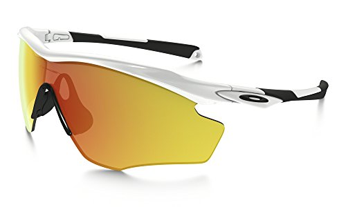 Oakley M2 Frame XL Sunglasses Polished White / Fire Irid. & Cleaning Kit - Sunglasses M2 Oakley Frame