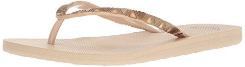 Roxy Women's Bermuda Molded Sandal Flip Flop, Tan, 7 M US