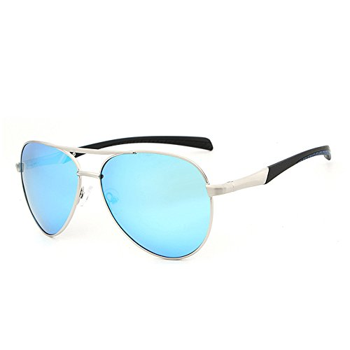 forman sol al del marco montan RFVBNM gafas marco de las hombres de de de personalidad los azul hielo Lente plata de la aire sol las Las grandes Marco lente m sol que gafas UV polarizadas prueba de de a libre gafas de manera del la BwBr7q86