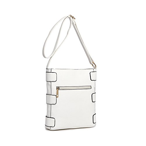 Bag Cross Women's Cross Bag Body Body LeahWard White w1tHFvq
