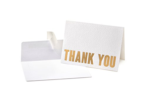 100 Letterpress Thank You Cards and Self Seal Envelopes - Opie's Paper Company (Personalized Products)