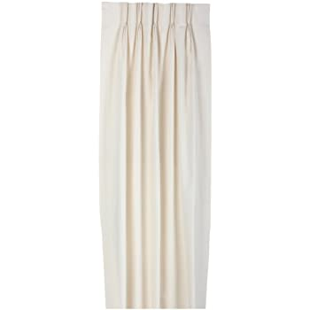 Fireside Pinch Pleated 48-Inch-by-63-Inch Thermal Insulated Drapes, Natural