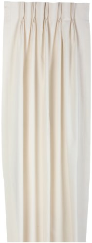 Drapes Fireside - Ellis Curtain Fireside Pinch Pleated 144-Inch-by-84-Inch Thermal Insulated Drapes, Natural