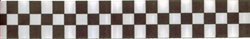 7/8in Black/white Checkered Ribbon - 5yards]()