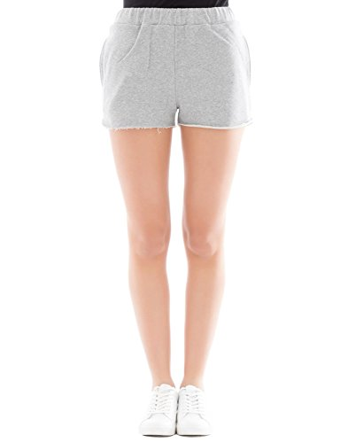 FORTE COUTURE Women's FC1SS1890 Grey Cotton Shorts