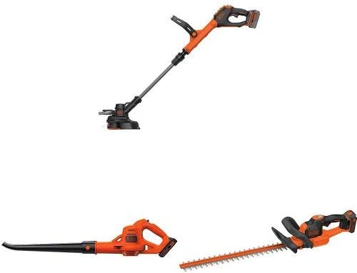 BLACK DECKER LSTE523 20V MAX Lithium POWERCOMMAND Easy Feed String Trimmer Edger and sweeper hedge trimmer