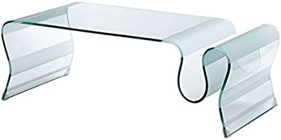 Zuo Discovery Coffee Table Glass, Clear