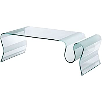 Amazon Com Zuo Modern Sojourn Coffee Table Clear