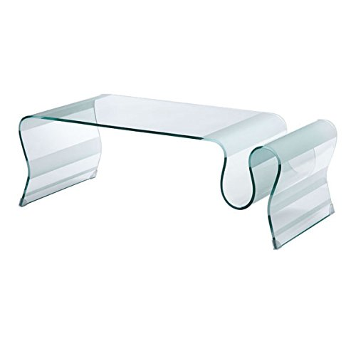 Zuo Discovery Coffee Table Glass, ()