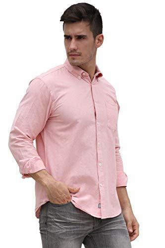 Custom Button Down Shirts (Broadlands Men's Oxford Shirt Button Down Solid Custom-Fit Long-Sleeve Casual Shirt)