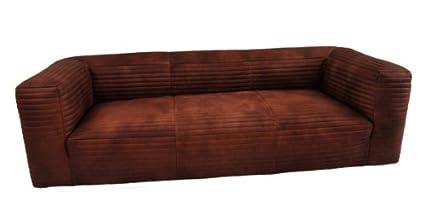 Häufig Ledersofa Romford 3-Sitzer Vintage Leder Whisky Brown (rauchiges VX17