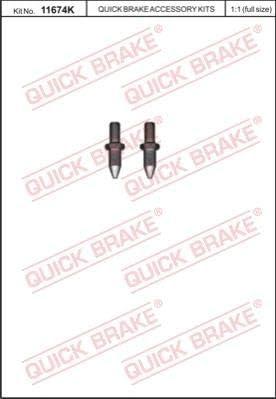Bremsscheibe QUICK BRAKE 11674K Schraube