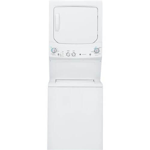 GE GUD27GSSJWW Spacemaker 9.1 Cu. Ft. White Gas Laundry Center