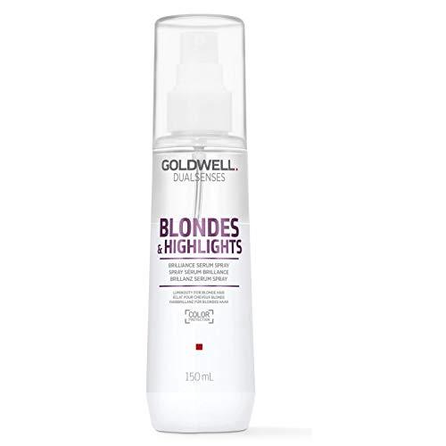 (Goldwell Dualsenses Blondes & Highlights Anti-Yellow Brilliance Serum Spray Luminosity & Protect 4oz)