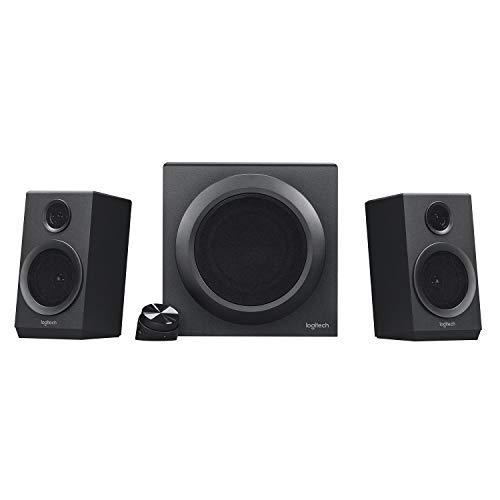 Logitech Z333 2.1 luidsprekersysteem met subwoofer, rijke bas, 80 watt piekvermogen, 3,5 mm & RCA-ingangen, multi-device…