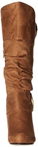 Brinley Co Dames Melbourne 05 Slouch Laars Regular & Wide Calf Chestnut