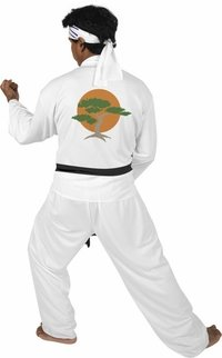 Karate Kid Outfit - Adult Karate Kid Costume (Size: X-Large 48-50)