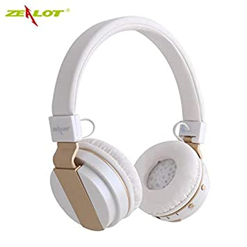 B17 - Auriculares inalámbricos con micrófono para Radio FM y Bluetooth 4.0 Blanco