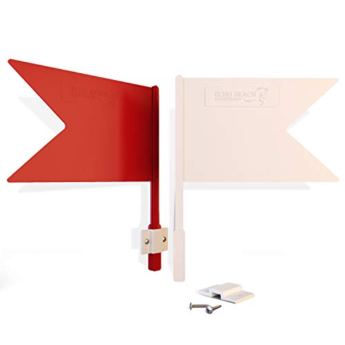 Echo Beach Equestrian Jump Flag Set for Show Jumping, Hunter, Cross Country or Training with Your Horse. Weatherproof, Durable and Ready to Assemble on Any Horse Jump