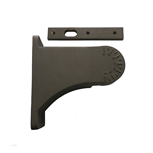Portor Adjustable Square/Round Pole Mount For ShoeBox Fixture Bronze