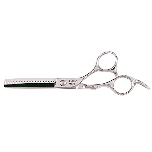 C-MON 18032 Think Easy 32 Tooth Professional Hair Cutting Thinner Shear, Straight/Convex-Concave Blade, 5.5-Inch