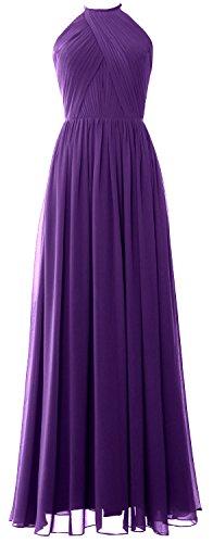 Halter Dress Women Formal Long Purple Wedding Party Macloth Gown Bridesmaid Evening a5UpxRxw