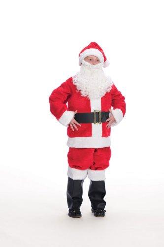 (Child's Plush Santa Suit Costume Size 14-16)
